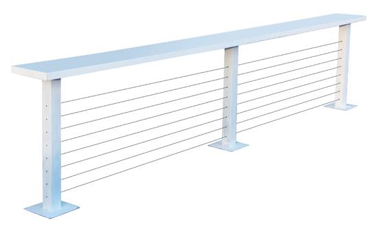 דלפק-מעקה-כבלים-לבן