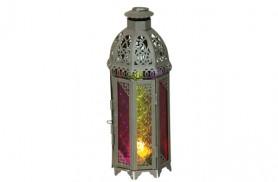 עששית-מרוקאית--זכוכית-צבעונית
