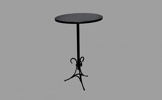 שולחן בר רגל ברזל פלטה שחורה
