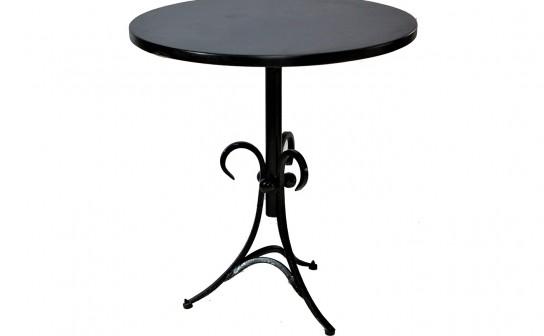 שולחן קפה רגל ברזל פלטה שחורה